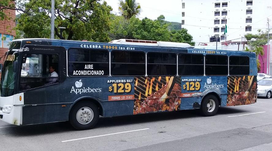 Publicidad exterior, publicidad en camiones Acapulco